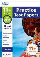 11+ Practice Test Papers for the CEM tests (Complete) inc. Audio Download by Letts 11+
