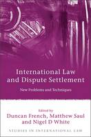 International Law and Dispute Settlement New Problems and Techniques by Duncan French