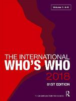 The International Who's Who 2018 by Europa Publications