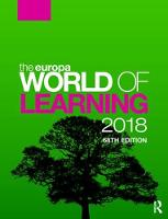 The Europa World of Learning by Europa Publications