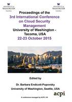 Iccsm 2015 - The Proceedings of the 3rd International Conference on Cloud Security and Management by Barbara Endicott-Popovsky