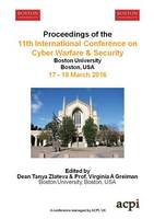 Iccws 2016 - Proceedings of the 11th International Conference on Cyber Warfare and Security by Tanya Zlateva