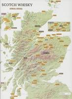 Whisky Distilleries Collect and Scratch Map by