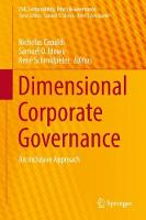 Dimensional Corporate Governance An Inclusive Approach by Nicholas Capaldi
