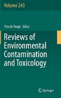 Reviews of Environmental Contamination and Toxicology by Pim de Voogt