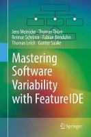 Mastering Software Variability with FeatureIDE by Jens Meinicke, Thomas Thum, Reimar Schroter, Fabian Benduhn