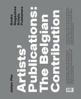 Artists'Publication the Belgian Contribution by Johan Pas by Geert Lernout, Johan Pas, Anne Thurmann-Jajes