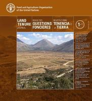 Land Tenure Journal 1/15 (Trilingual Edition) by Food and Agriculture Organization of the United Nations