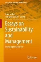 Essays on Sustainability and Management Emerging Perspectives by Runa Sarkar