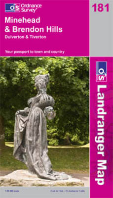 Minehead and Brendon Hills, Dulverton and Tiverton by Ordnance Survey
