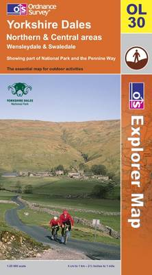 Yorkshire Dales Northern and Central Areas by Ordnance Survey