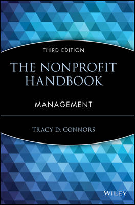The Nonprofit Handbook Management by Tracy D. Connors