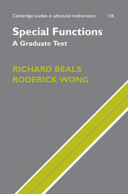 Special Functions A Graduate Text by Richard Beals, Roderick Wong