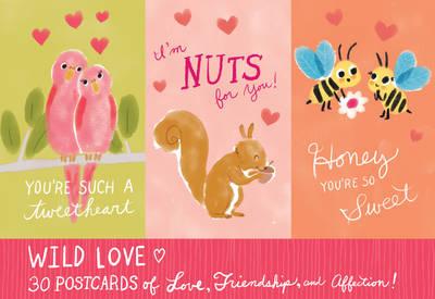 Wild Love Postcard Book by Galison