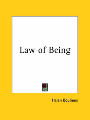 Law of Being (1920) by Helen Boulnois
