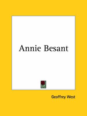 Annie Besant (1928) by Geoffrey West