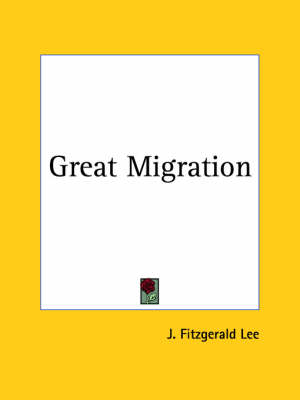 Great Migration (1932) by J. Fitzgerald Lee