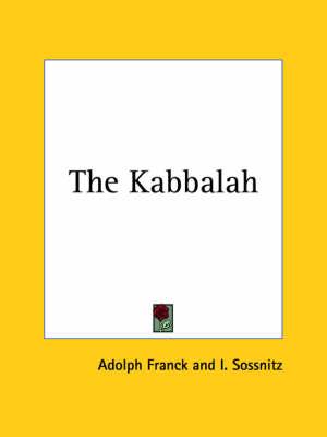 The Kabbalah (1926) by Adolph Franck