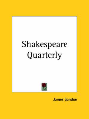 Shakespeare Quarterly by James et al Sandoe
