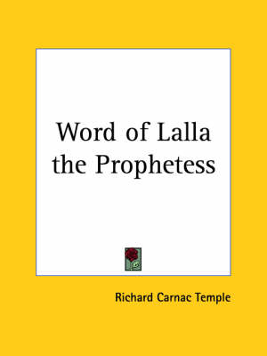 Word of Lalla the Prophetess (1924) by Richard Carnac Temple