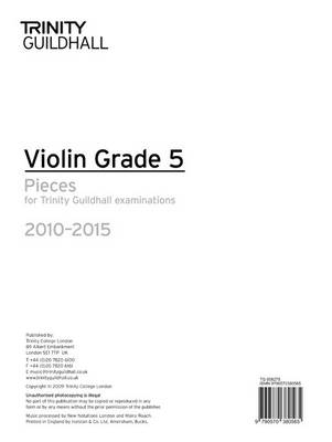 Violin Exam Pieces Grade 5 2010-2015 (part Only) by Trinity Guildhall