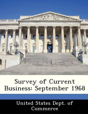 Survey of Current Business September 1968 by