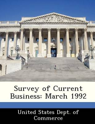Survey of Current Business March 1992 by