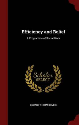 Efficiency and Relief A Programme of Social Work by Edward Thomas Devine