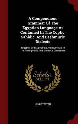 A Compendious Grammar of the Egyptian Language as Contained in the Coptic, Sahidic, and Bashmuric Dialects Together with Alphabets and Numerals in the Hieroglyphic and Enchorial Characters by Henry Tattam