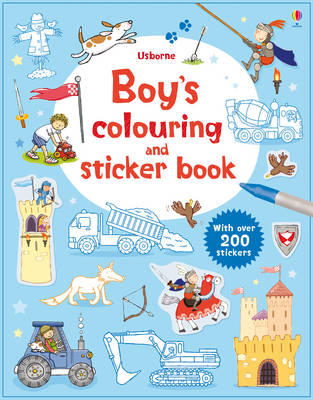 Boys' Colouring and Sticker Book by Sam Taplin