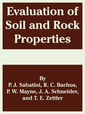 Evaluation of Soil and Rock Properties by P J Sabatini, R C Bachus, Al Et Al