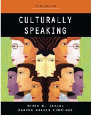 Culturally Speaking - Print on Demand by Martha Cumming, Rhona B. Genzel
