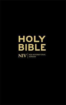 NIV Thinline Black Hardback Bible by New International Version