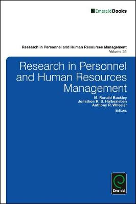 Research in Personnel and Human Resources Management by M. Ronald Buckley