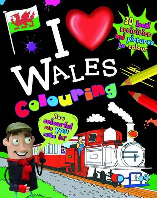 I Love Wales Colouring by