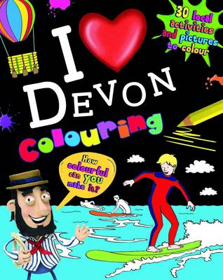 I Love Devon Colouring by