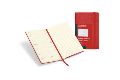 Moleskine Red Pocket Weekly Notebook 12 Month Hard by Moleskine