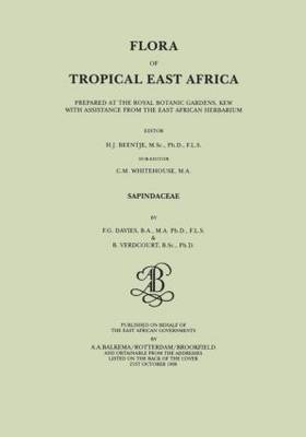 Flora of Tropical East Africa - Sapindaceae by F. G. Davies, B. Verdcourt