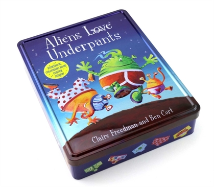 Aliens Love Underpants Anniversary Tin by Claire Freedman