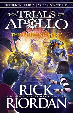 Cover for The Burning Maze by Rick Riordan