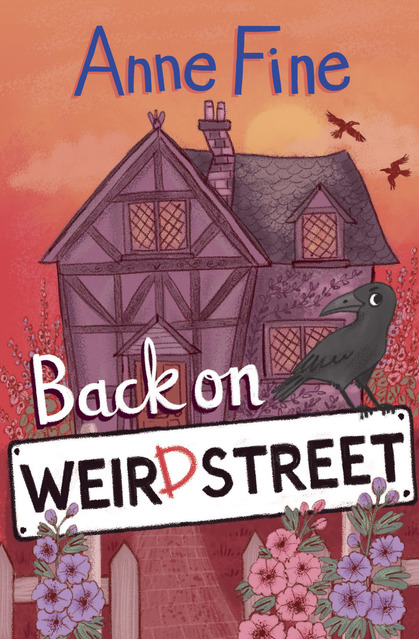 Cover for Back on Weird Street by Anne Fine