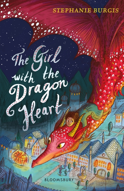 Cover for The Girl with the Dragon Heart by Stephanie Burgis