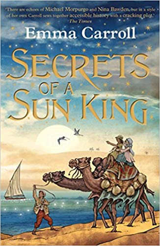 Cover for Secrets of a Sun King by Emma Carroll