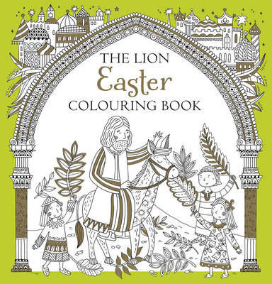 Cover for The Lion Easter Colouring Book by Antonia Jackson