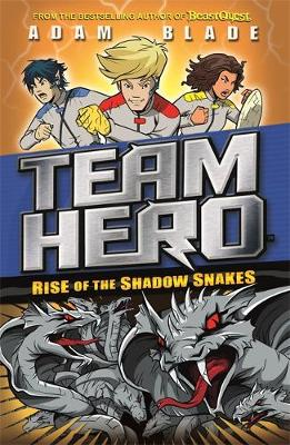 Cover for Team Hero: Rise of the Shadow Snakes Series 2, Book 4 by Adam Blade