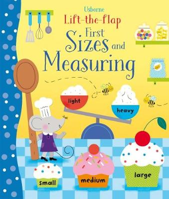 Cover for Lift-the-Flap Sizes and Measuring by Hannah Watson