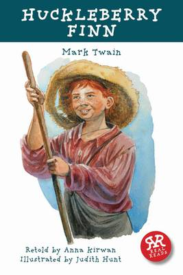 Cover for Huckleberry Finn - retold by Anna Kirwan by Mark Twain