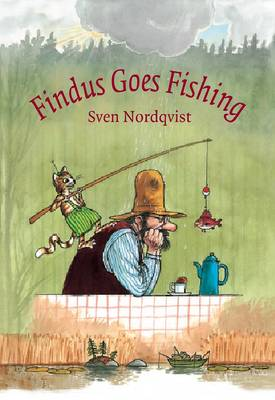 Cover for Findus Goes Fishing by Sven Nordqvist