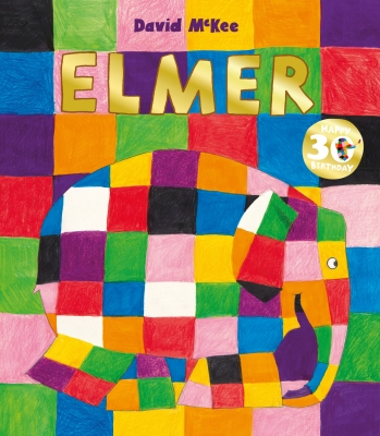 Cover for Elmer 30th Anniversary Collector's Edition with Limited Edition Print by David McKee