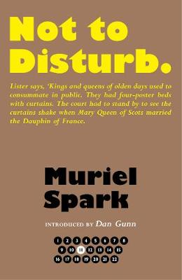 Book Cover for Not to Disturb by Muriel Spark, Prof. Dan Gunn